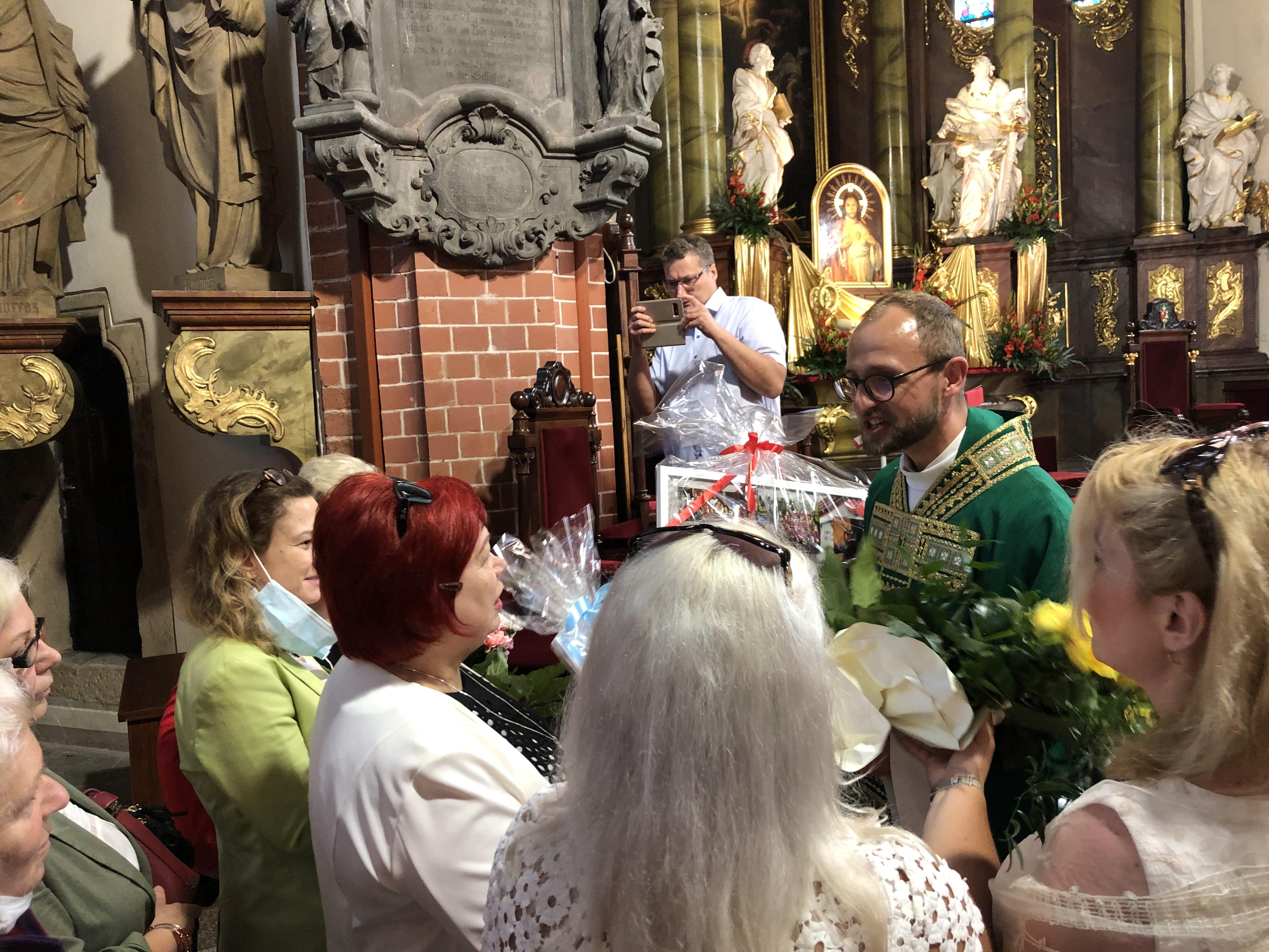 Msza święta na zakończenie posługi ks. Łukasza Kutrowskiego